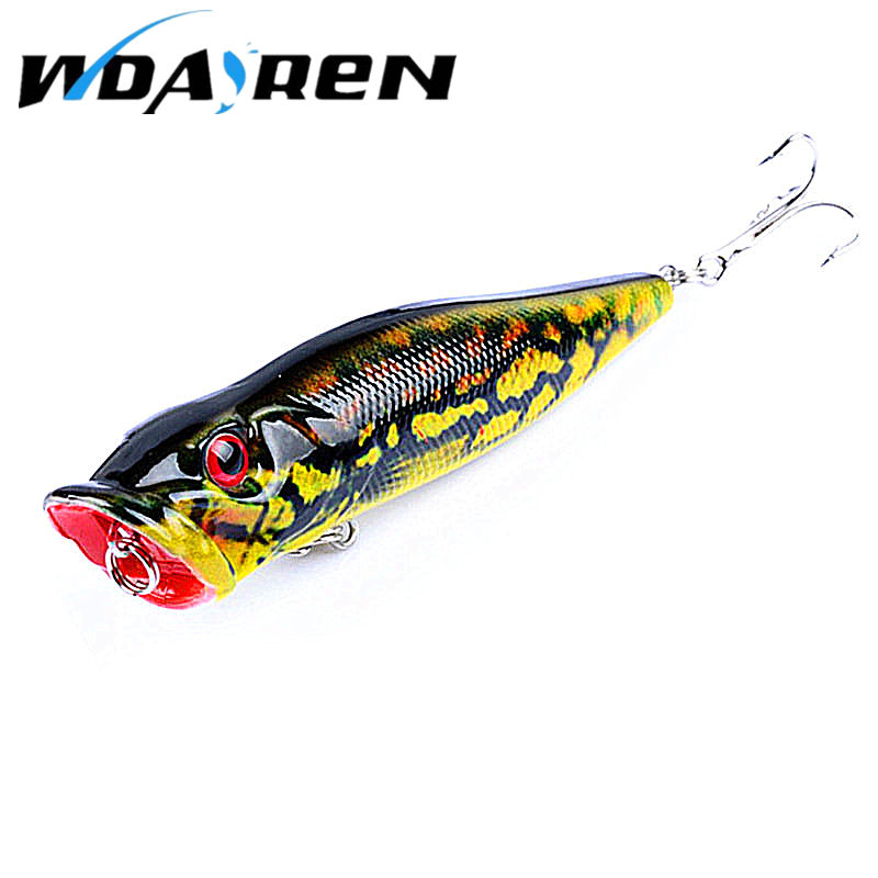 New listing 1pc Fishing Lures 4 colors Popper Lure 9.5cm 12g fishing bait 6 # high carbon steel hook fishing tackle FA-413 1 pcs fish lure topwater popper minnow freshwater fishing lures bass bait tackle 4 treble hook fishing lure bait color random