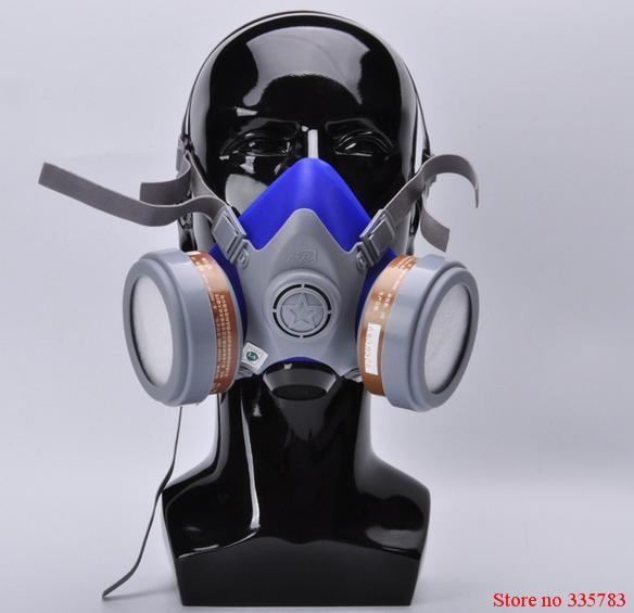 Alta calidad de la Pulverización Protect Mask Respirador Máscara de Gas Anti-Polvo Químico Pintura de Aerosol de Polvo Mascarilla Máscara de Cartucho Dual