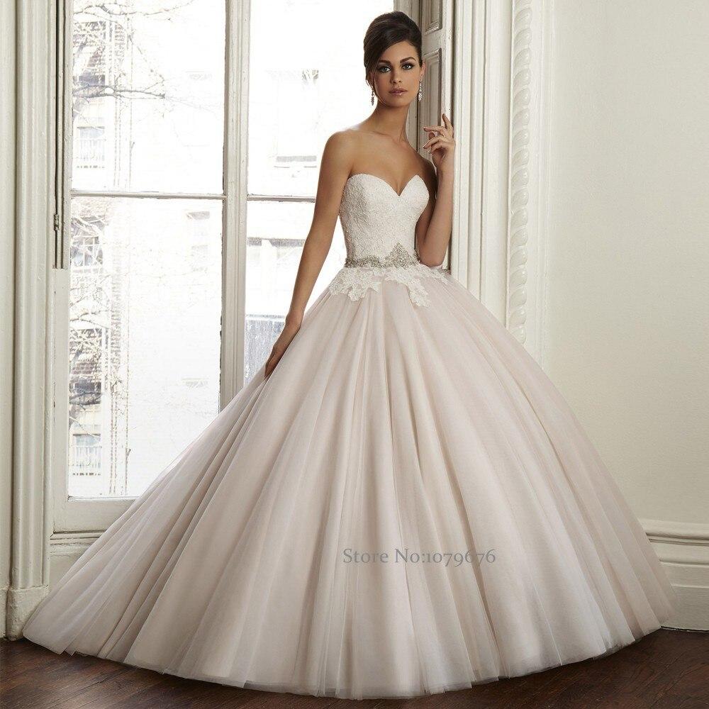 Elegant Romantic Pink Wedding Gowns: New Designs 2015 Vestidos De Boda Elegant Romantic Light