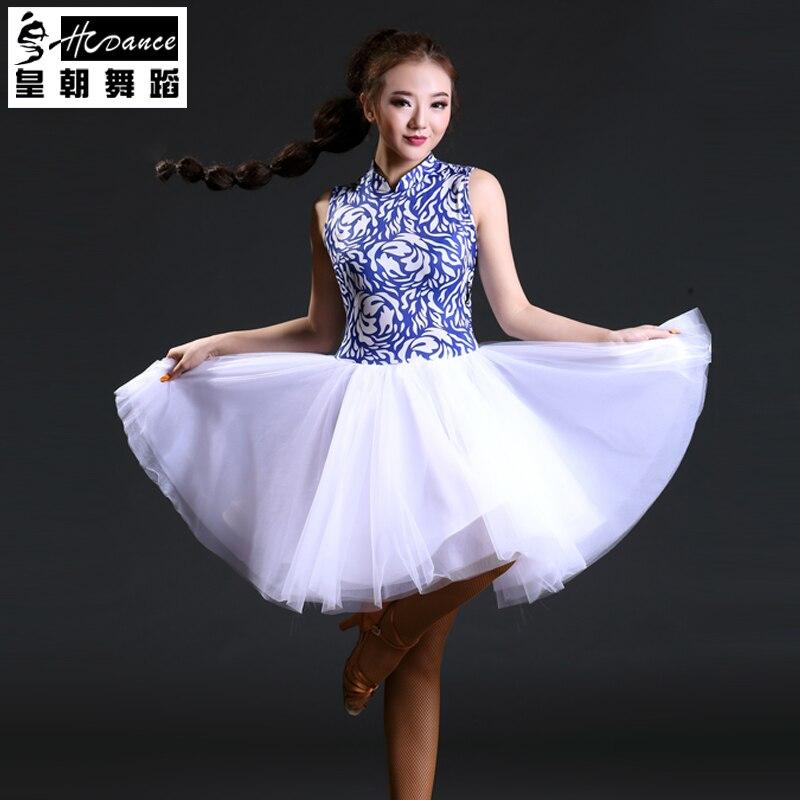 Hcdance 2017 New Latin Dance Dresses Women Tango Samba Salsa Ballroom Leotard Dresses Dance Dress For Women Dance 399