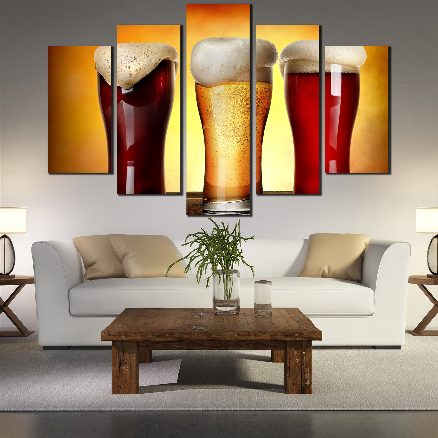 Buy 5 big beer drinking poster on vintage for International home decor stores