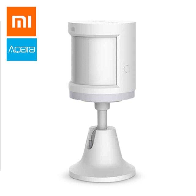 100% Xiao mi aqara Menselijk Lichaam Sensor Zigbee Beweging Motion Security Draadloze Verbinding Lichtintensiteit Gateway 2 mi thuis app s