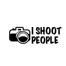 20.3CM*6.6CM I Shoot People Photographer Humor Camera Car Sticker And Decals Motorcycle Car Styling Black/Sliver C8-0784