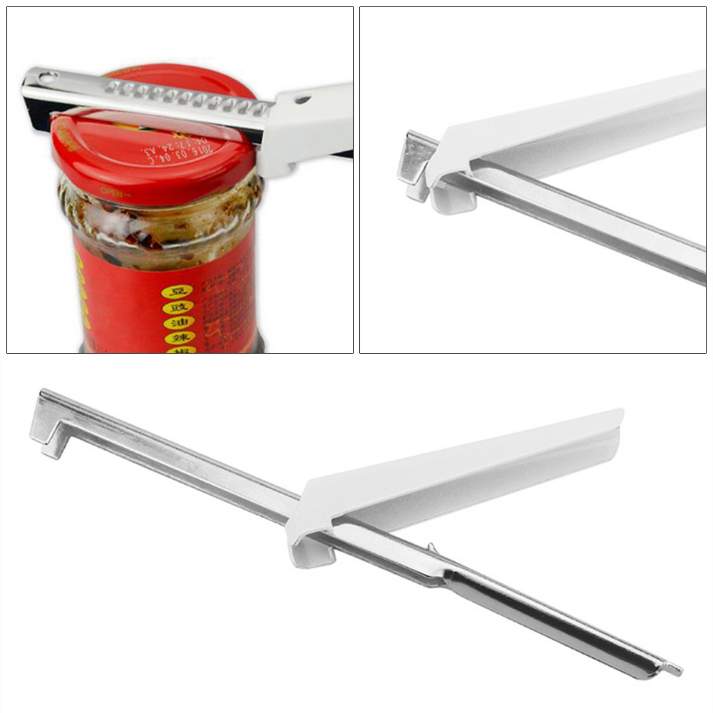 adjustable stainless steel multifunctional jar openers and anti-hand sliding quick bottle opener