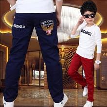 Garçon pantalon de printemps modèles grand vierge Coréenne enfants pantalons occasionnels garçons pantalon 2016 nouveaux enfants de vêtements Enfants De Mode