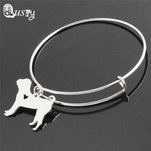 silver plated bracelets & bangles Boxer,Yorkie,Labrador,Basset Hound ,Poodle pet dog bracelet bangle women jewelry
