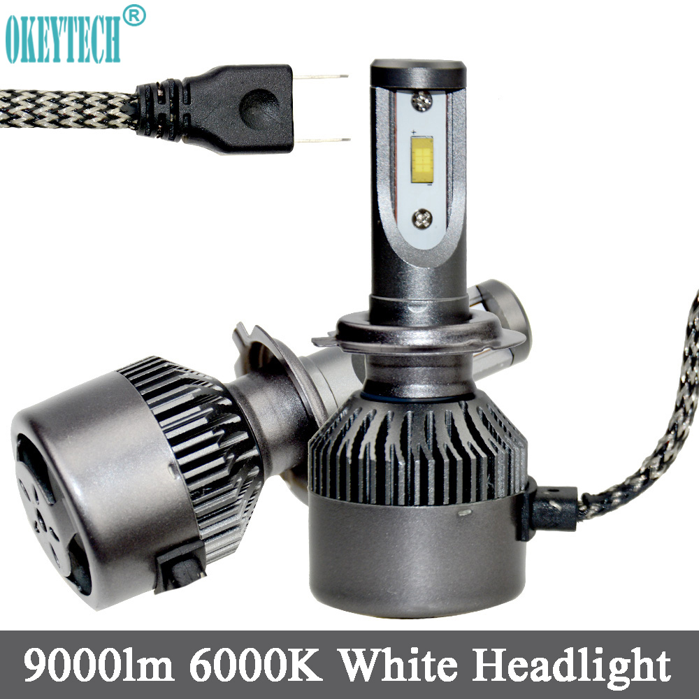 OkeyTech H7 CSP LED Car Headlight Bulbs Single Beam 80W 9000LM White 6000K Auto Headlamp 12V 24V Car Front Headlight Fog Light 1set csp chips car headlight h4 led bulbs high low beam 52w 9000lm automobiles suv headlamp cool white 6000k 12v 24v