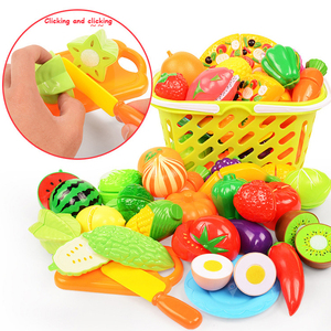 Image 2 - 6/10/18pcs vegetables cute toys early development and education toys for baby color randomly pattern surwish plastic fruit toys