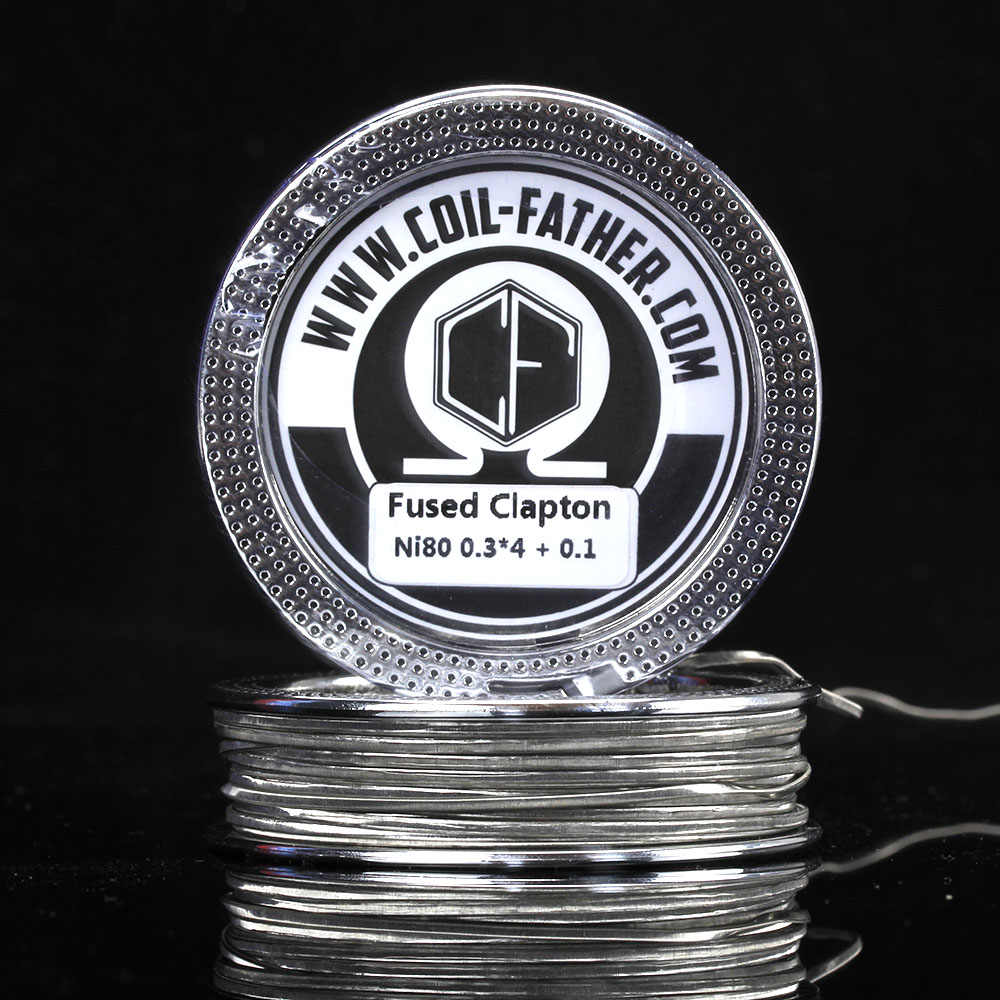 5PCS Coil Father 5m/roll SS316L A1 Ni80 Fused Clapton Vaporizer Heating  Wire Vape Coil Wire For Electronic Cigarette Atomizer