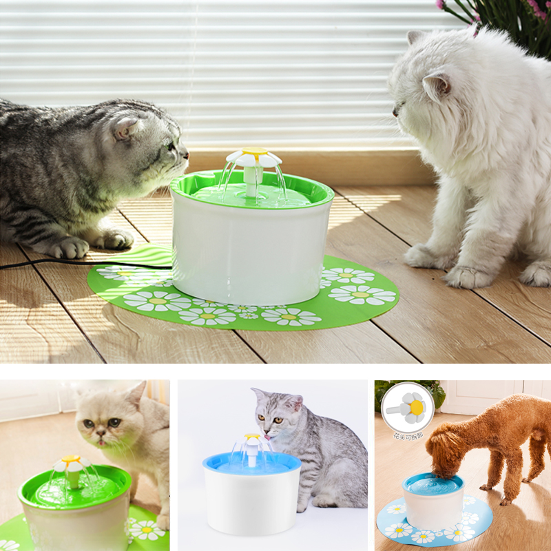 Automatic Cats Auto Drinking Fountain Water Dispenser Feeder Cat Water Bowl Filtered Pet Supplies 1.6l Auto Dog Feeder Drinker
