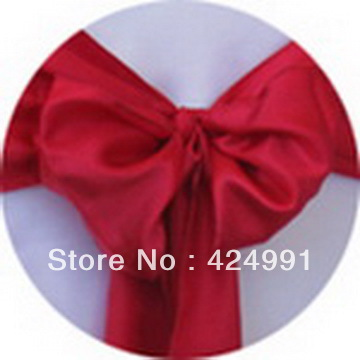 Dark Red Chair Sashes Kids Table ୧ʕ ʔ୨100pcs Hot Sale Satin Sash For Weddings Events 100pcs Party Decoration
