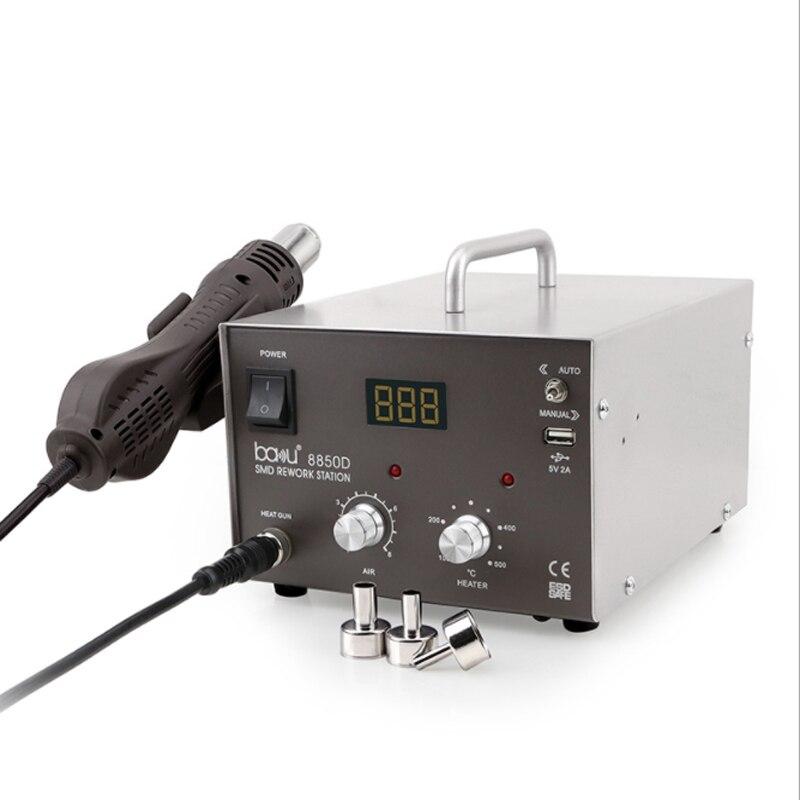 ba-8850D hot air gun desoldering station digital display can regulate temperature, SMD digital mobile phone repair tools