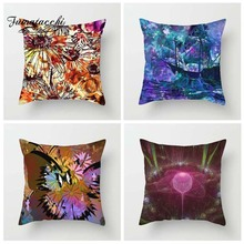 Fuwatacchi 3D Print Style Cushion Cover Mandala Butterfly Kaleidoscope Printed Pillow Decorative Pillows For Sofa Car