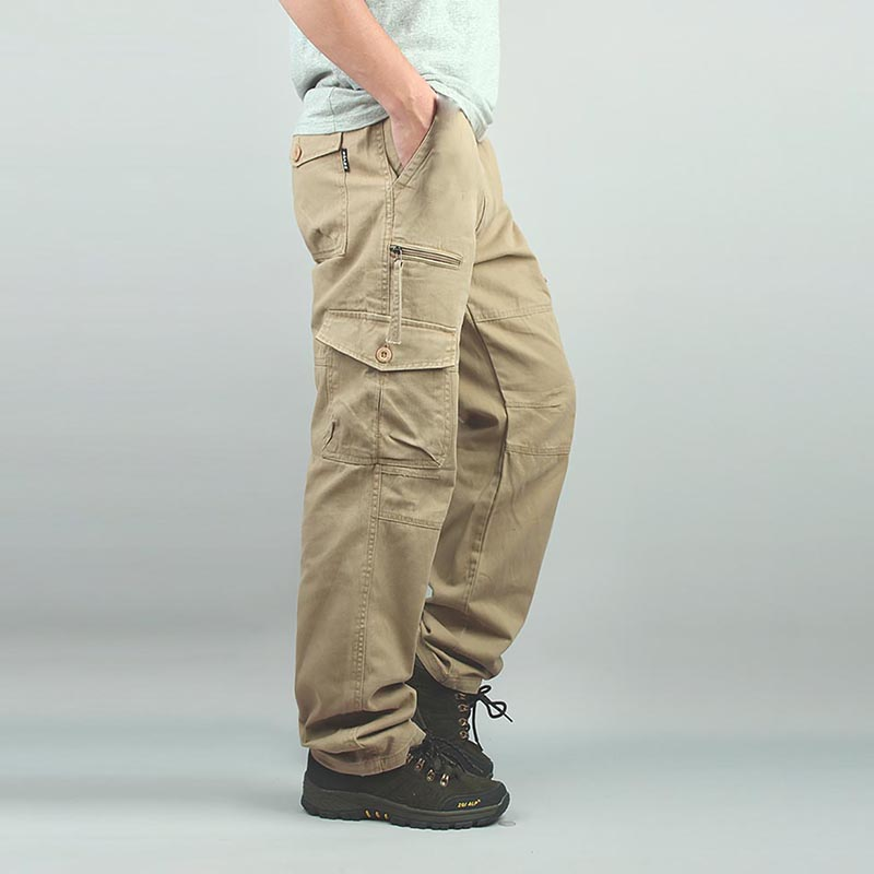 Printemps Été Hommes Pantalon Occasionnel Poche Cargo Mode Vêtements Tactique Armée Pantalon Lâche Baggy Hip Hop Joggeurs Grande Taille 7XL