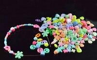 Thrading String Bracelet Beads Diy Colorful Toys Children Amblyopia Training Corrective Acrylic Beads 450pcs Set