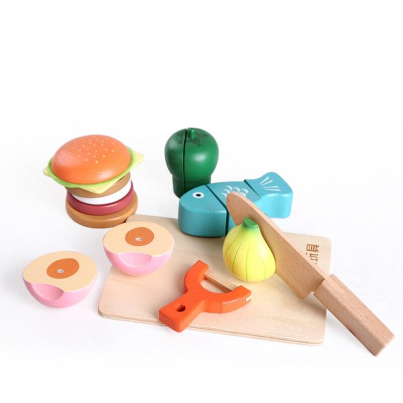 Juguetes Perakitan Makanan Kayu Mainan Simulasi Buah dan Sayuran Mainan  Magnet Single Dijual Klasik Berpura pura Bermain Unisex di Dapur Mainan  dari Mainan ... ef2ffeca34