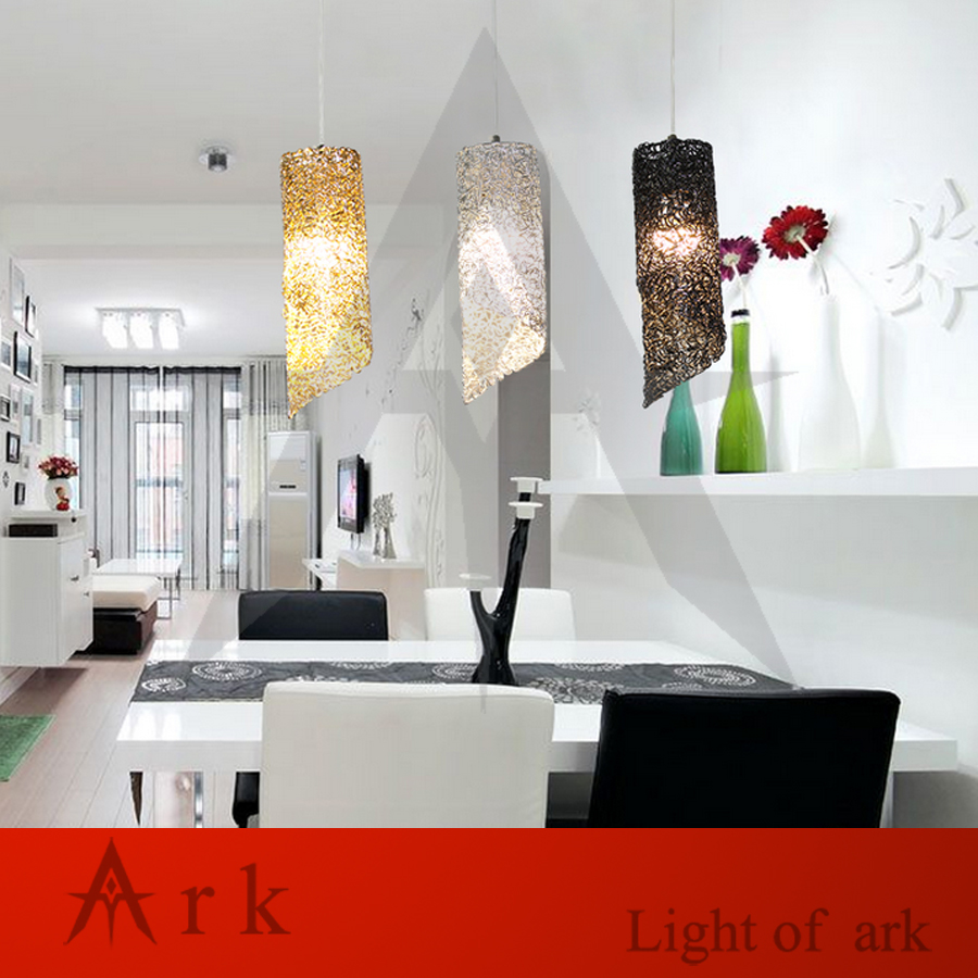 House Light Bulb Wiring A Modern Ark Aluminum Wire Cannular Pendant Lamp Led Hanging Fixture Creative Bar Lighting Dinner