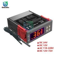STC-1000 LCD Digital Thermostat Temperature Controller AC110V220V DC12V DC24V DC12V-72V Outdoor Thermoregulator Heating Cooling