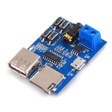 MP3 Decoder Player Module TF Card U Disk Audio Decoding Board 2W Mono Amplifier mini 5v mp3 decoder board bluetooth call decoding module mp3 wav u disk