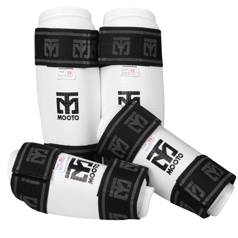 1 Set MOOTO D'origine Taekwondo avant-bras garde shin Protecteur WTF Muay Thai TKD genouillères Karaté jambières bras Coude protection