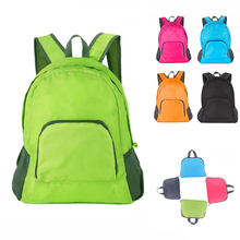 BS Lightweight Nylon Foldable Backpack Waterproof Backpack Folding Sport Bag Portable Men Women Backpack for Travel Mochila Muje