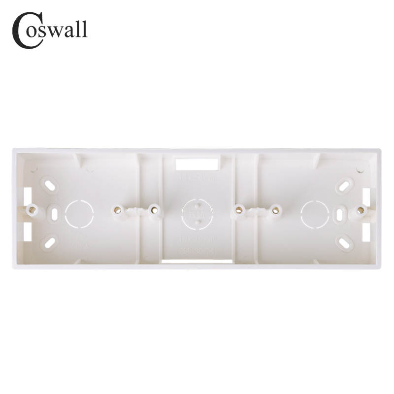 Coswall external mounting box 258mm*86mm*34mm for 86 type triple switches or sockets apply for any position of wall surface
