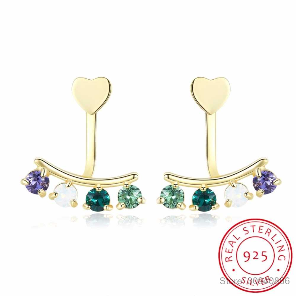 2018 NUOVO VENDITA Fine jewelry 925 Sterling Silver Original Cristalli Da Swarovski Bella Mini Piercing Orecchini Orecchini di Modo