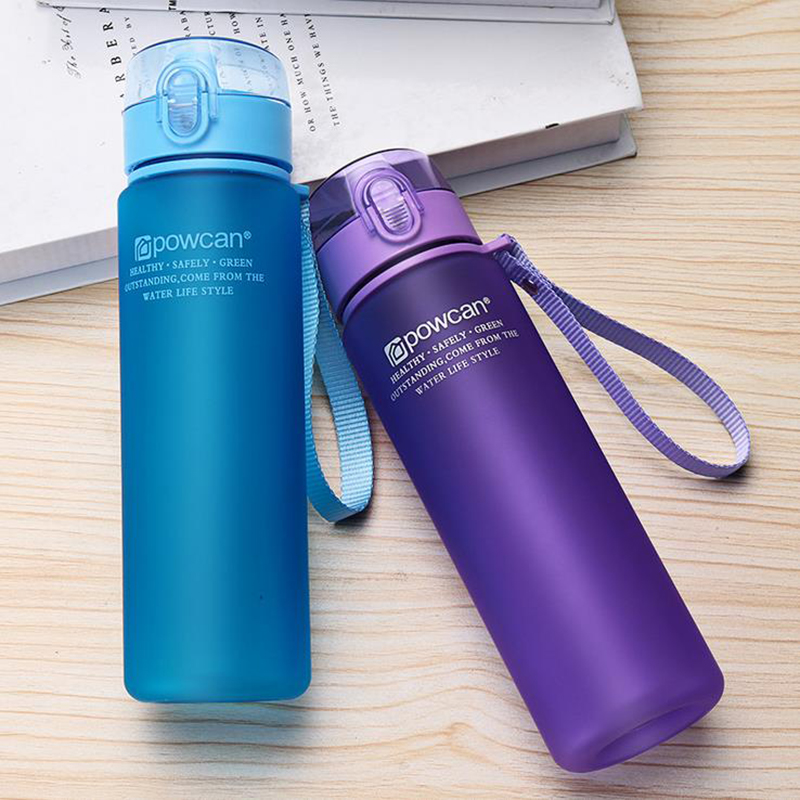 Protein Shaker Portable Water Bottles 560ML 400ML Plastic Drinkware Tour Outdoor Sport School Leak Proof Seal Gourde Climbing-in Water Bottles from Home & Garden on AliExpress