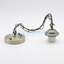 Потолочный розовый навес с цепью кабель провода E27 Лампа Эдисона в стиле ретро держатель для люстры led подвесной светильник аксессуары шнур набор