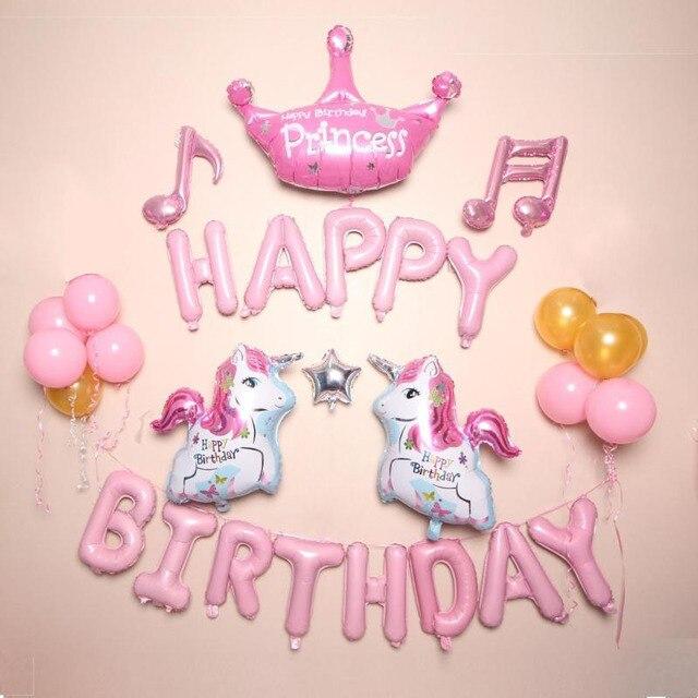 unicorno festa compleanno  Unicorno unicorno Feste Foil Palloncini Per Bambini Decorazione ...