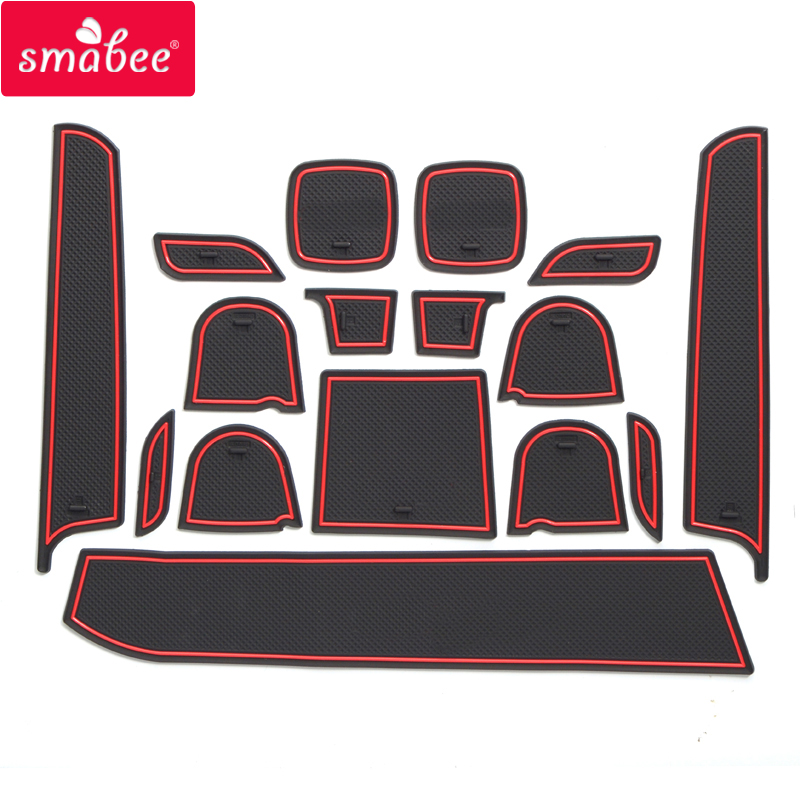 Smabee Gate Slot Pad For SUZUKI Swift SPORT Swift 1.2 Interior Door Pad/Cup Non-slip Mats Red Blue White  16pcs