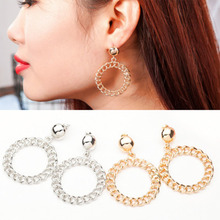 Europe Earrings Original 2019 New Fashion Wild Temperament Exaggerated Chain Circle Drop earrings Jewelry For Girl Gift WD186