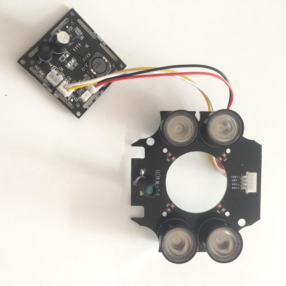 Nouveau 4 rangée IR led Spot Light conseil Infrarouge pour CCTV caméras de vision nocturne Pour En Plein Air Étanche Caméra CVI TVI AHD WiFi 1080 P