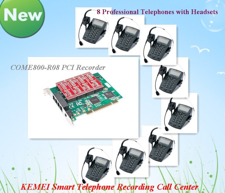 8 channels Mini Call Center System Aftersales Service