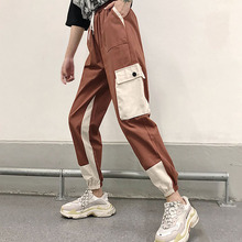 Women Cargo Pants 2019 New Arrival Spring And Autumn Pockets Cotton Female Student Teenager Girls Korean Style N36
