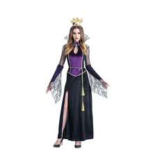 Sexy Women Girls Princess Vampire Costumes Halloween Costume for Women Long Dress Carnival Party Cosplay Adult Witch Queen Dress halloween black devil cosplay costume forwomen vampire white angel dress with wings adult sexy party witch costumes girl