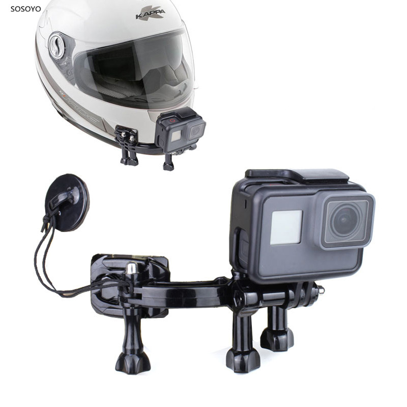 Motorcycle Helmet Chin Mount Kit Adjustable Wide Range Angle Action Camera