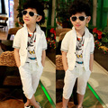 15 male child set summer child set shorts suit formal dress 2 piece set