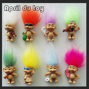 80pcs 2017 New Hair Troll kindergarten Members Baby Boys Girls Trolls Kids Toys for Children's day Gift
