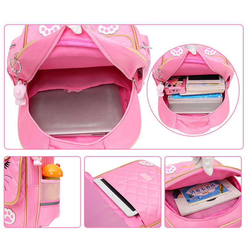 Latest Removable Children School Bags 2/6 Wheels for Girls Trolley Backpack Kids Wheeled Bag Bookbag travel luggage Mochila