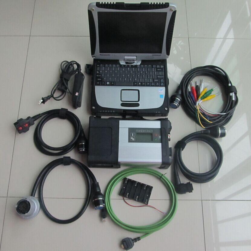 Super MB Étoiles C5 SD Connecter avec un ordinateur portable cf19 Toughbook de diagnostic PC avec mb star c5 date logiciel 2018.09 hdd pour sd c5