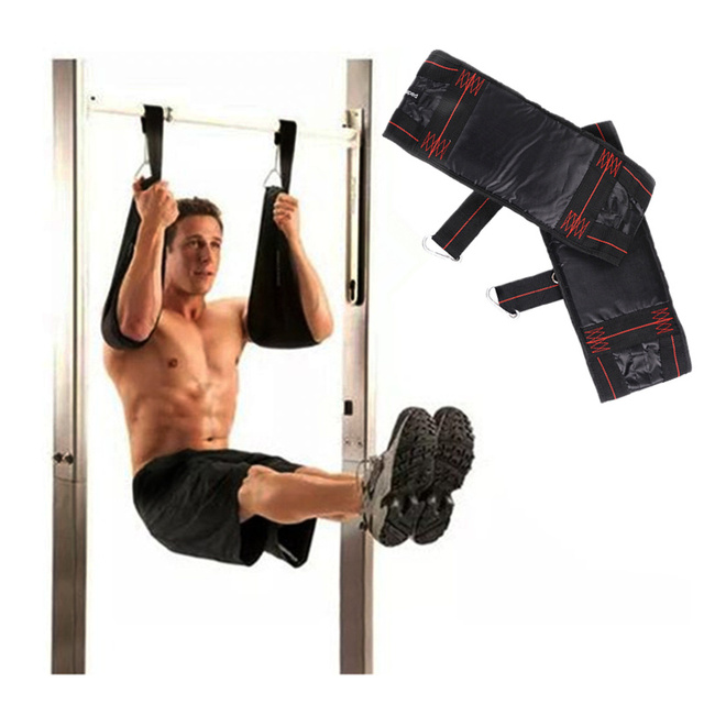 eda6a7d40e7 Pull up Bar AB Slings Straps Sports and Fitness Equipment Hanging Straps  Belt Chin Up Sit