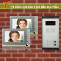 Apartment Intercom System 2 apartments 7 Inch LCD video door phone intercom system Intercom Video Door Bell video intercom