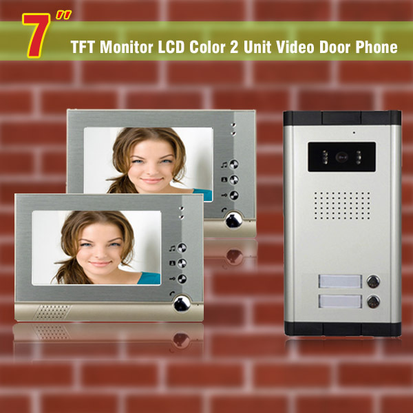 Apartment Intercom System 7 Inch font b video b font door phone intercom system for 2