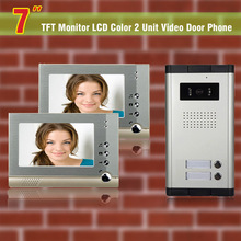 Apartment Intercom System 7 Inch video door phone intercom system for 2 units apartments Intercom Video