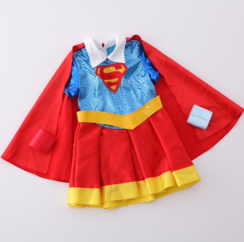 IDARMEE S9276 Halloween Supergirl Costume Deluxe Child Dawn Of Justice Superhero Girls Princess Dress Up Size 3 11 Years-in Girls Costumes from Novelty ... & IDARMEE S9276 Halloween Supergirl Costume Deluxe Child Dawn Of ...