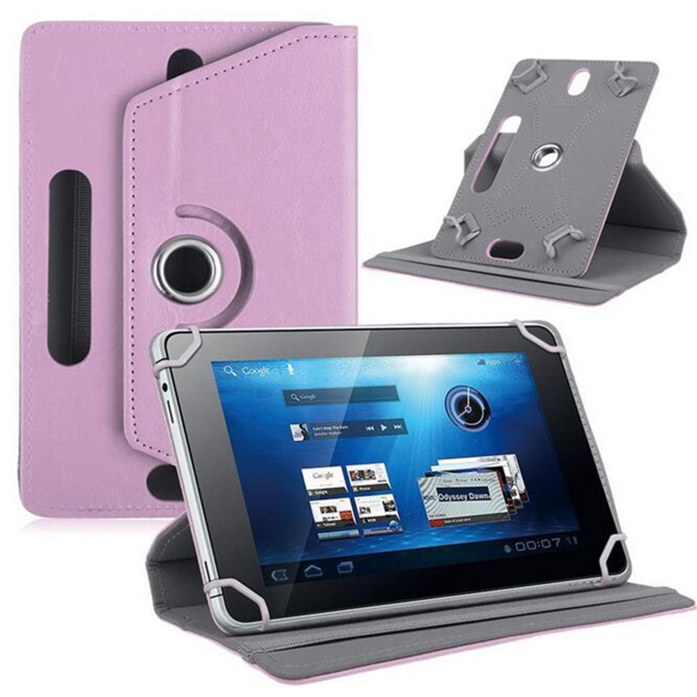 10 дюймов, 360 градусов, вращающийся чехол, чехол для универсального планшета, планшета, ПК, чехол, кожаный протектор, Универсальный Прочный рукав - Цвет: Violet