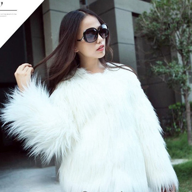 013778f42d57f Free Shipping Plus Size New Fayion Women s Warm Faux Pink Fur Coat Jacket  Winter Fake Fur Parka Outerwear Chalecos De Pelo Mujer