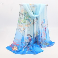 2018 Spring and summer new chiffon scarf scarves long printing variety female sunscreen shawls beach towels