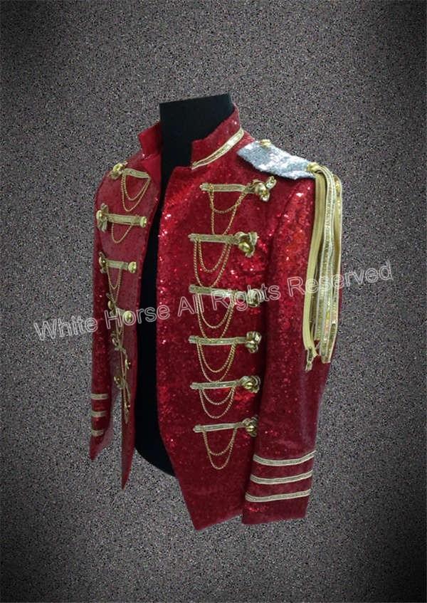 Bling Bling férfiak blézer férfi bordó blazer sequin kabát Club - Férfi ruházat